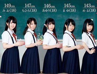 140cm台の小柄な制服美少女たちが濃厚ザーメンごっくん!教室でのハーレムファックで膣内射精!