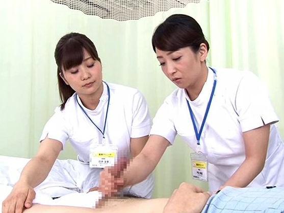 手コキで治療!勃起患者を優しくシコシコ痴女ナース