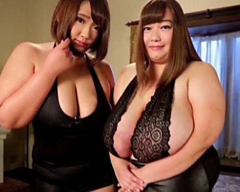 Oカップ超乳と超デカ尻のメガトン級ぽっちゃり美女!二人の肉厚エロボディに囲まれハーレム痴女セックス!