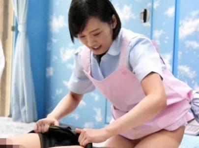 《MM号》看護学生のお姉さんが敏感チンポのお世話♡早漏改善のためにマンコを使って優しくSEXしてくれる♡