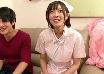 ★小倉ゆず★ショートカットのセクシー女優が看護師コスで素人男性にご奉仕♡聴診器でエロ診察してパイズリSEX♡