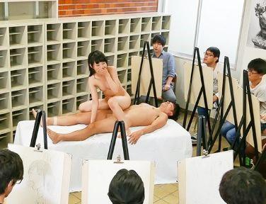 やだ恥ずかしいのに…イッグ!!美少女が全裸ヌードモデルをしたらめちゃくちゃピストンされて見られながらイキ悶える